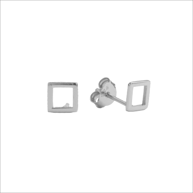 Silberne ALLTHELUCKINTHEWORLD Ohrringe PARADE EARRINGS OPEN SQUARE - large
