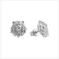 Silberne ALLTHELUCKINTHEWORLD Ohrringe PARADE EARRINGS LION - medium