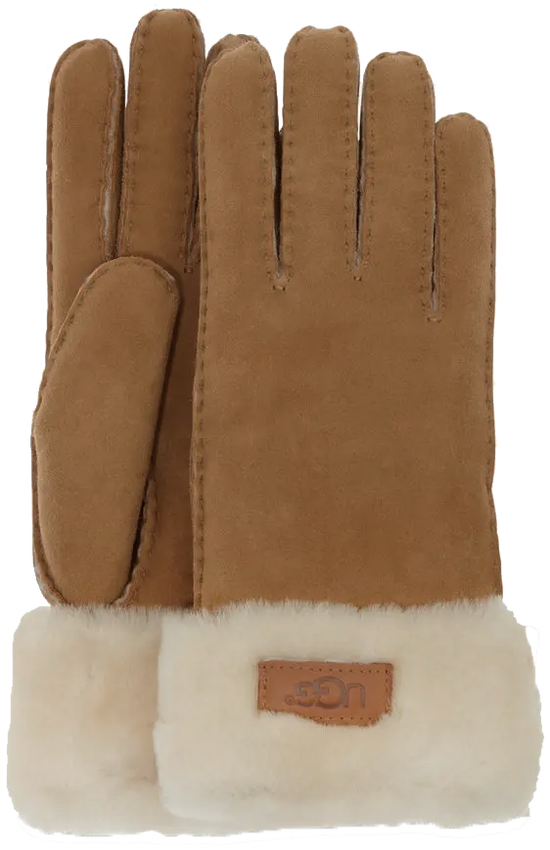 Braune UGG Handschuhe TURN CUFF GLOVE - larger