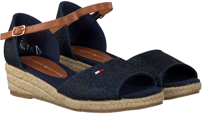 Blaue TOMMY HILFIGER Sandalen ROPE WEDGE SANDAL  - large