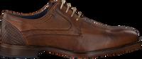 Cognacfarbene OMODA Business Schuhe 735-AS - medium