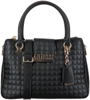 Schwarze GUESS Handtasche MATRIX LUXURY SATCHEL  - medium