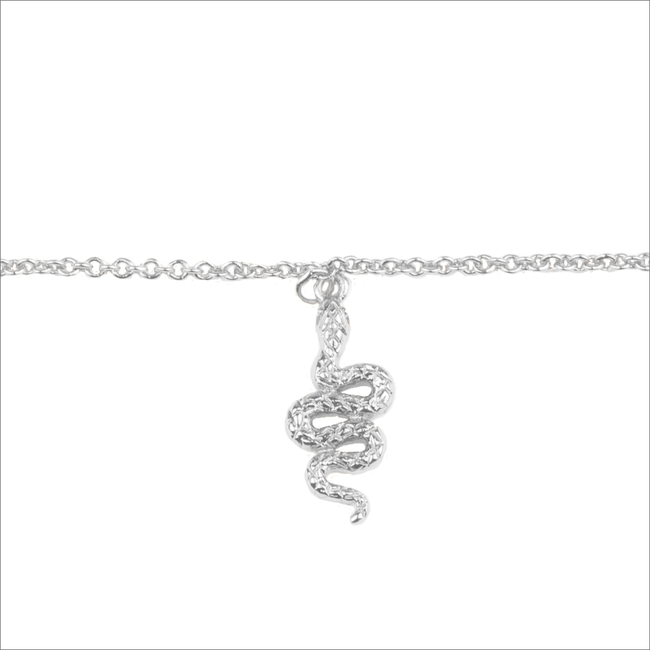 Silberne ALLTHELUCKINTHEWORLD Armband SOUVENIR NECKLACE SNAKE - large