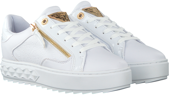 Weiße GUESS Sneaker low FIGGI  - large