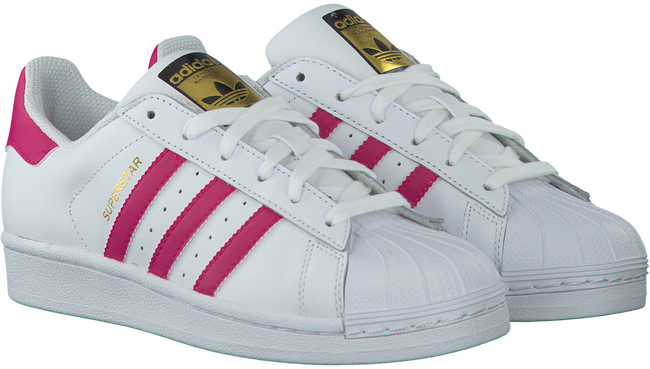 Weiße ADIDAS Sneaker SUPERSTAR KIDS - large