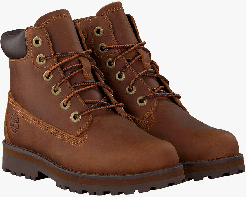 Cognacfarbene TIMBERLAND Schnürboots COURMA KID TRADITIONAL 6 INCH  - larger