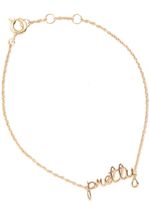 Goldfarbene ALLTHELUCKINTHEWORLD Armband URBAN BRACELET PRETTY - large