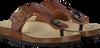 Cognacfarbene DEVELAB Sandalen 48005 - small