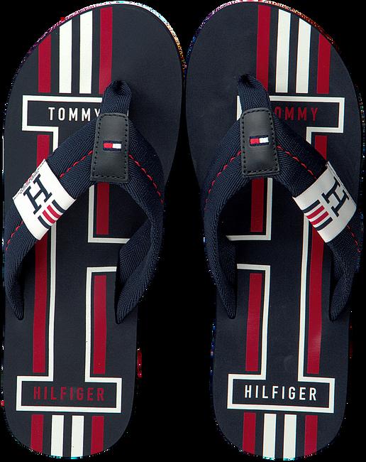 Blaue TOMMY HILFIGER Pantolette BADGE TEXTILE BEACH  - large