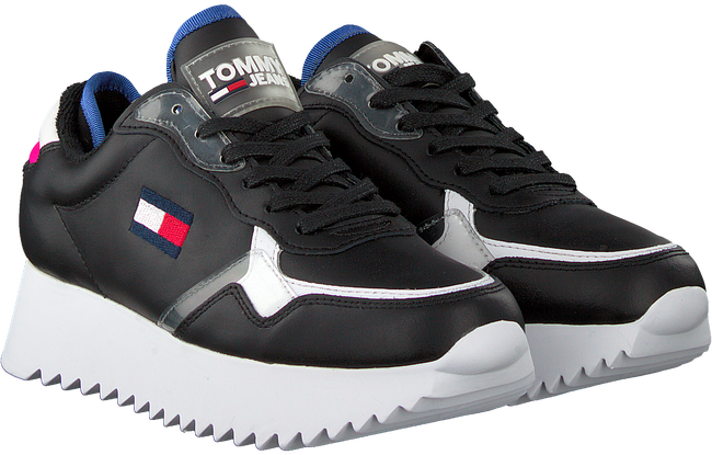 Schwarze TOMMY HILFIGER Sneaker low HIGH CLEATED TOMMY JEANS  - large