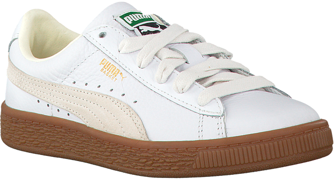 Weiße PUMA Sneaker BASKET CLASSIC GUM DELUXE PS - large
