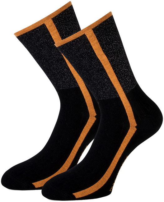 Schwarze MARCMARCS Socken DEBORAH COTTON - large