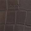 Graue BY LOULOU Portemonnaie SHINY CROCO - small