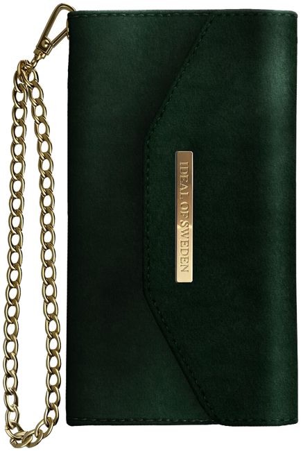 Grüne IDEAL OF SWEDEN Handy-Schutzhülle CLUTCH VELVET IPHONE8/7/6/6SPL - large