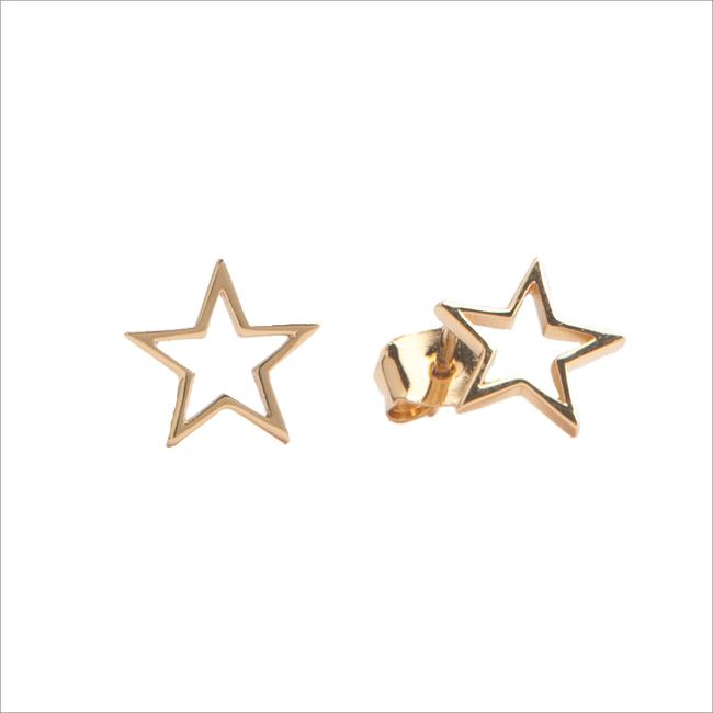 Goldfarbene ALLTHELUCKINTHEWORLD Ohrringe PARADE EARRINGS OPEN STAR - large