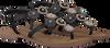 Schwarze LAZAMANI Sandalen 75.607  - small