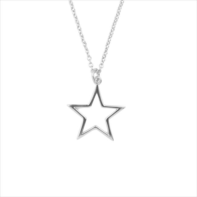 Silberne ALLTHELUCKINTHEWORLD Kette SOUVENIR NECKLACE STAR - large