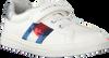 Weiße TOMMY HILFIGER Sneaker low LOW CUT LACE-UP/VELCRO SNEAKER  - small
