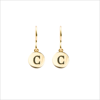 Goldfarbene ALLTHELUCKINTHEWORLD Ohrringe CHARACTER EARRINGS LETTER - medium