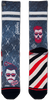 Schwarze XPOOOS Socken BARBERSHOP - small