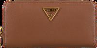 Cognacfarbene GUESS Portemonnaie DESTINY SLG LARGE ZIP AROUND  - medium