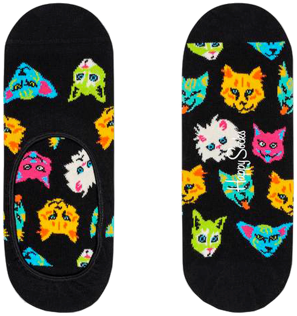 Schwarze HAPPY SOCKS Socken LINER  - large