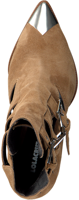 Cognacfarbene LOLA CRUZ Stiefeletten 294T10BK  - large