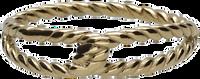 Goldfarbene NOTRE-V Ring RING KNOOP  - medium
