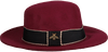 Rote ROMANO SHAWLS AMSTERDAM Hut HAT RIBBON  - small