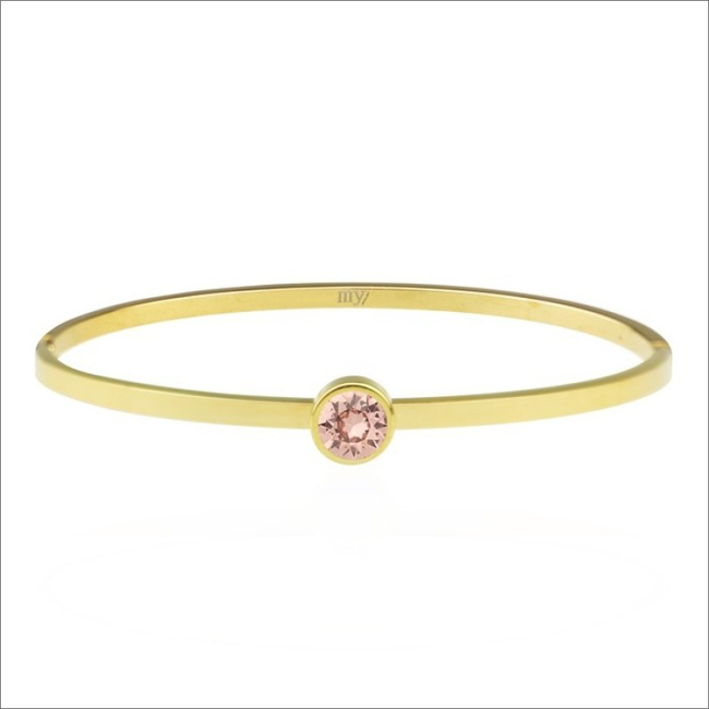 Goldfarbene MY JEWELLERY Armband LITTLE STONE BANGLE - large