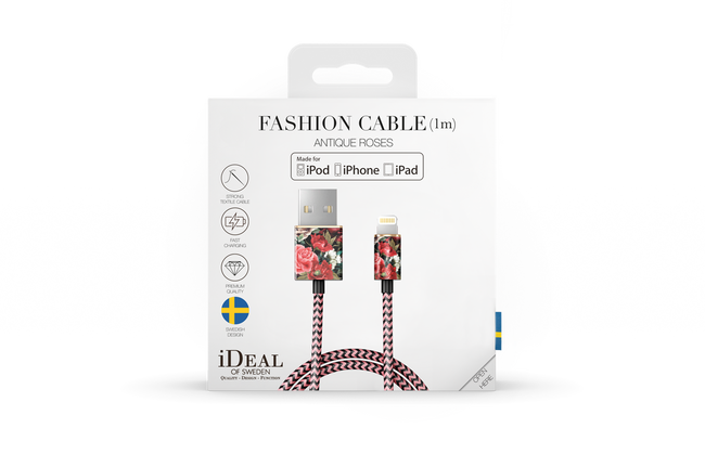 Rote IDEAL OF SWEDEN Ladekabel FASHION CABLE 1M - large