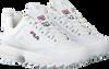 white FILA shoe DISRUPTOR S LOW WMN  - small
