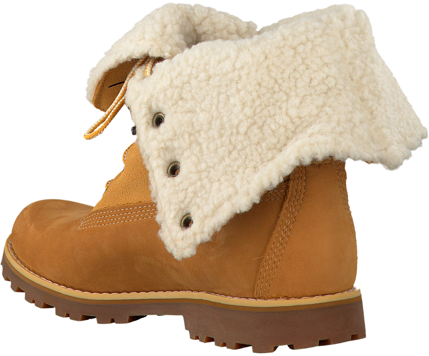 Camelfarbene TIMBERLAND Ankle Boots 6IN WP SHEARLING BOOT - larger