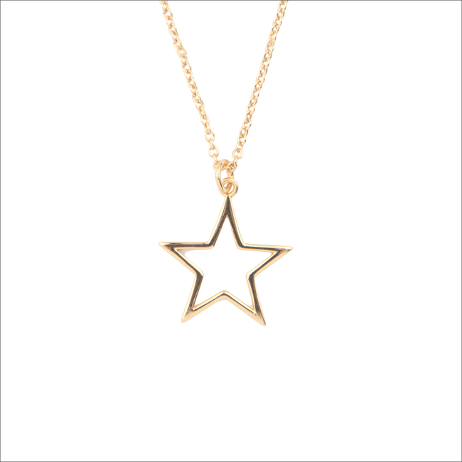 Goldfarbene ALLTHELUCKINTHEWORLD Kette SOUVENIR NECKLACE STAR - large