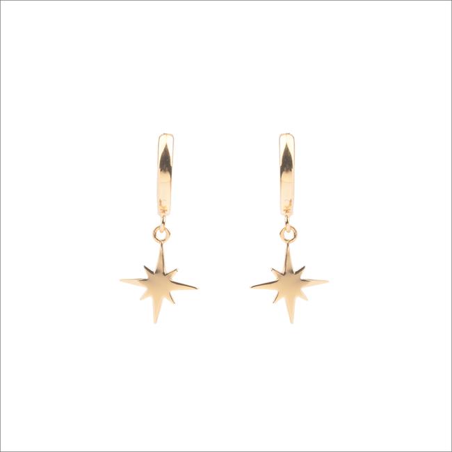 Goldfarbene ALLTHELUCKINTHEWORLD Ohrringe SOUVENIR EARRINGS STAR BURST - large