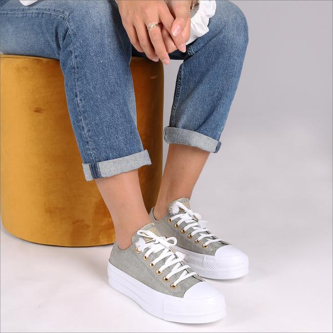 Graue CONVERSE Sneaker CTAS LIFT OX DARK STUCCO/DRIF - large