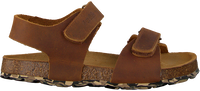 Cognacfarbene DEVELAB Sandalen 48181 - medium