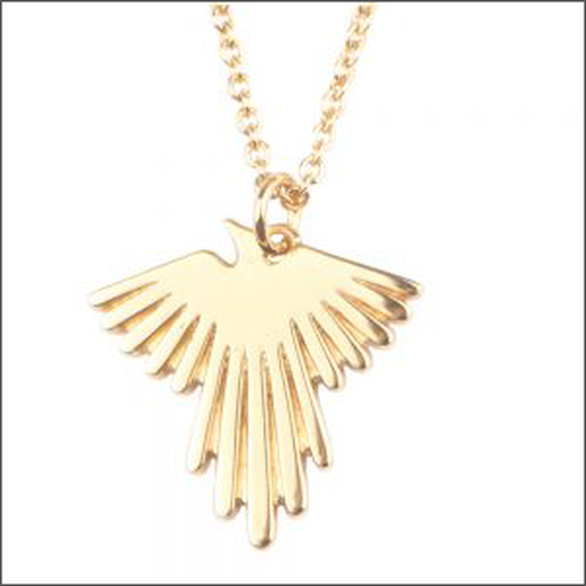 Goldfarbene ALLTHELUCKINTHEWORLD Kette SOUVENIR NECKLACE EAGLE - large