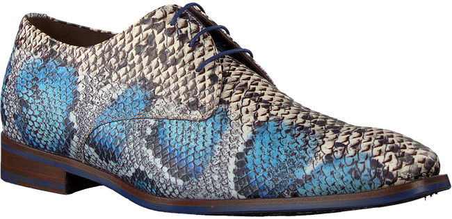 Blaue FLORIS VAN BOMMEL Business Schuhe 18224  - large