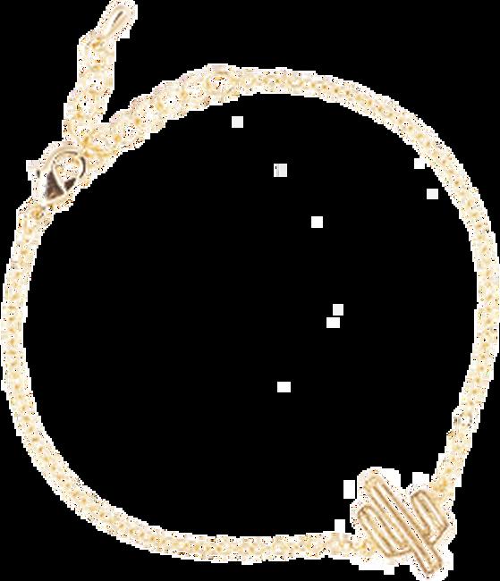 Goldfarbene ALLTHELUCKINTHEWORLD Armband ELEMENTS BRACELET CACTUS - large
