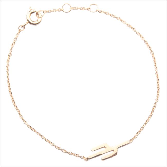 Goldfarbene ALLTHELUCKINTHEWORLD Armband SOUVENIR BRACELET CACTUS - large