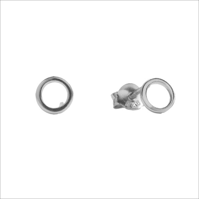 Silberne ALLTHELUCKINTHEWORLD Ohrringe PARADE EARRINGS OPEN CIRCLE - large