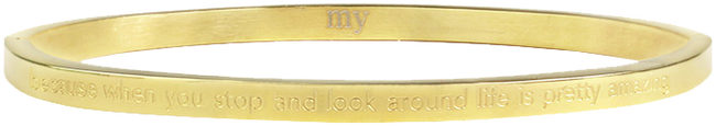 Goldfarbene MY JEWELLERY Armband BECAUSE WHEN YOU STOP AND LOOK - large