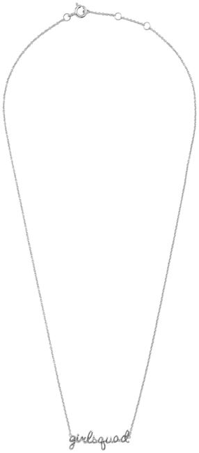 Silberne ALLTHELUCKINTHEWORLD Kette URBAN NECKLACE GIRLSQUAD - large