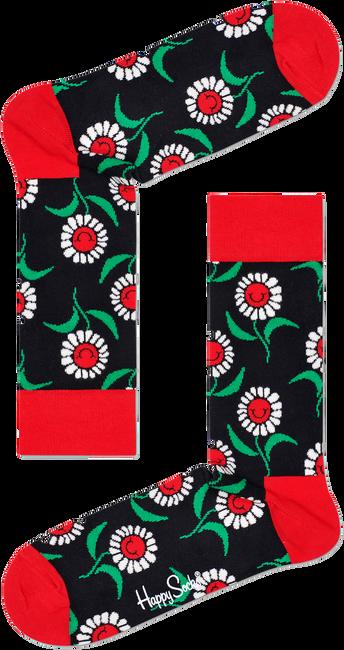 Schwarze HAPPY SOCKS Socken SUNFLOWER SOCK  - large