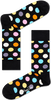 Schwarze HAPPY SOCKS Socken BIG DOT - small