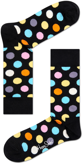 Schwarze HAPPY SOCKS Socken BIG DOT - large