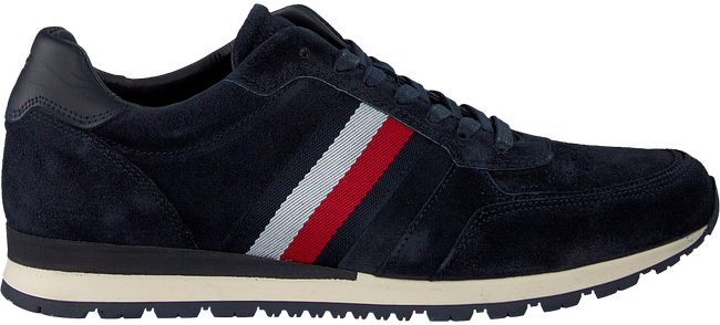 Blue TOMMY HILFIGER shoe LUXERY SUEDE RUNNER  - large