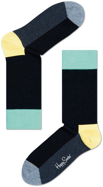 Schwarze HAPPY SOCKS Socken FIVE COLOUR - large