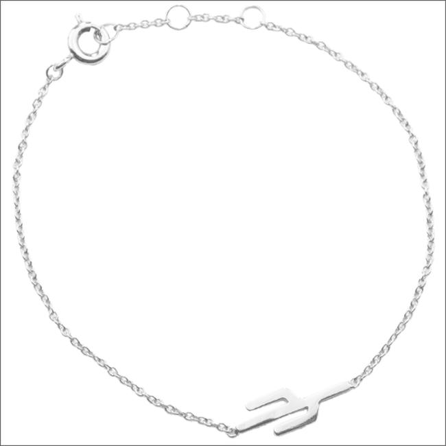 Silberne ALLTHELUCKINTHEWORLD Armband SOUVENIR BRACELET CACTUS - large